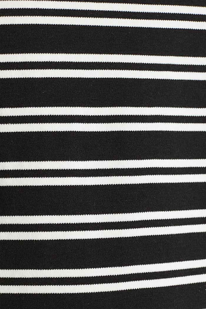 Hoodie sweatshirt dress, 100% cotton, BLACK, detail image number 4