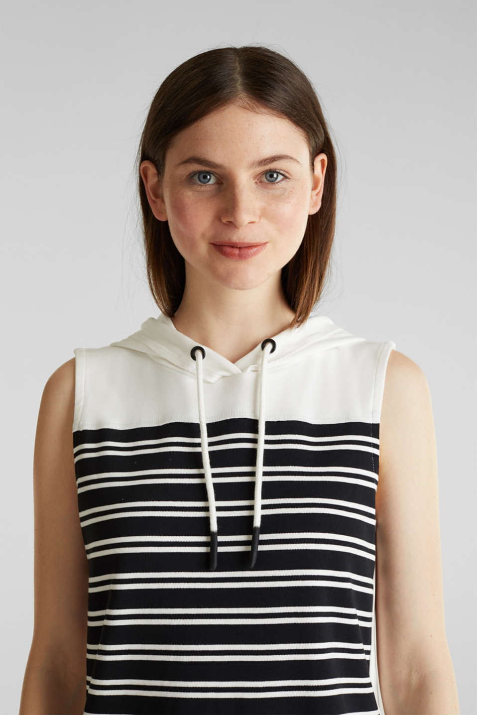 Hoodie sweatshirt dress, 100% cotton, BLACK, detail image number 6