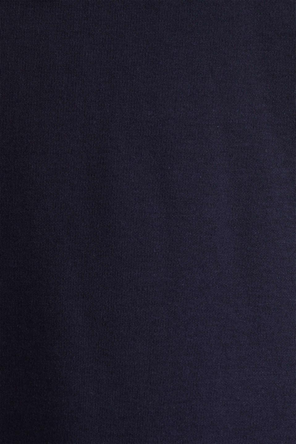 Hooded sweatshirt fabric dress, NAVY, detail image number 5