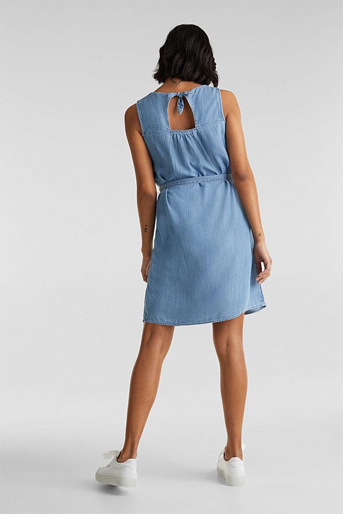 Denim-Kleid aus Lyocell, BLUE LIGHT WASHED, detail image number 2