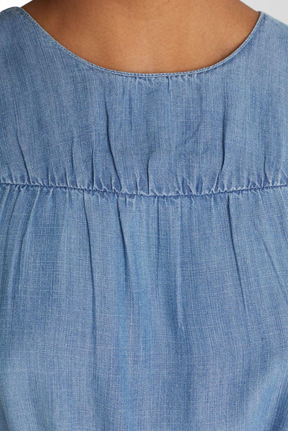 Denim dress made of lyocell, BLUE LIGHT WASH, detail image number 4