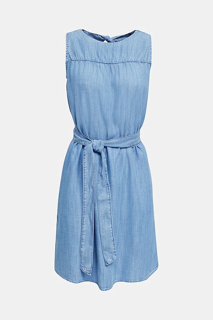 Denim-Kleid aus Lyocell, BLUE LIGHT WASHED, detail image number 7