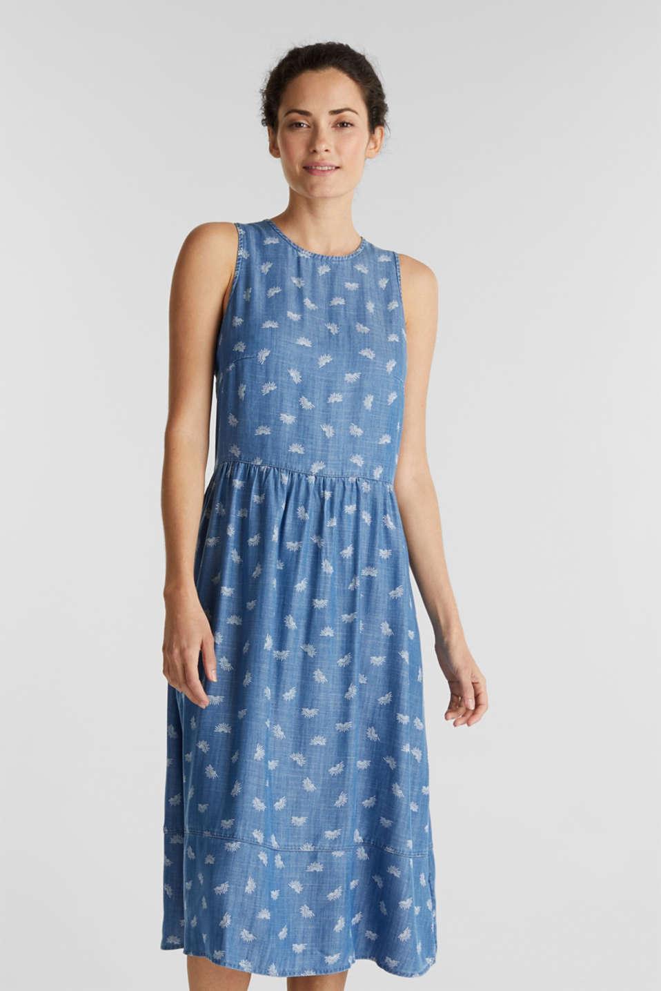 Denim dress made of lyocell, BLUE LIGHT WASH, detail image number 0
