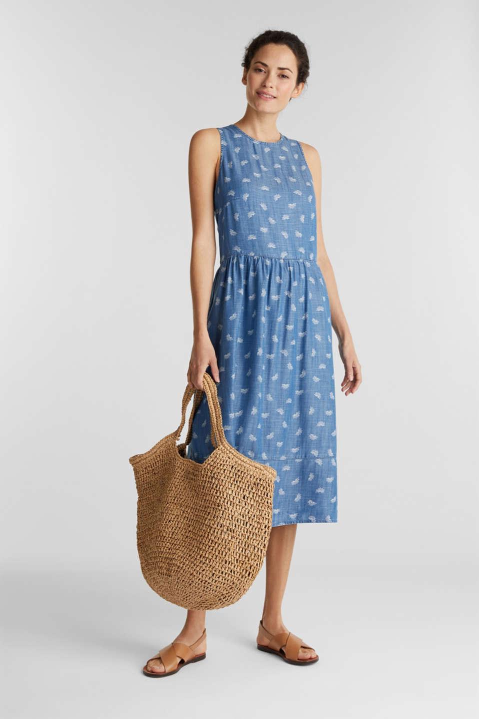 Denim dress made of lyocell, BLUE LIGHT WASH, detail image number 1