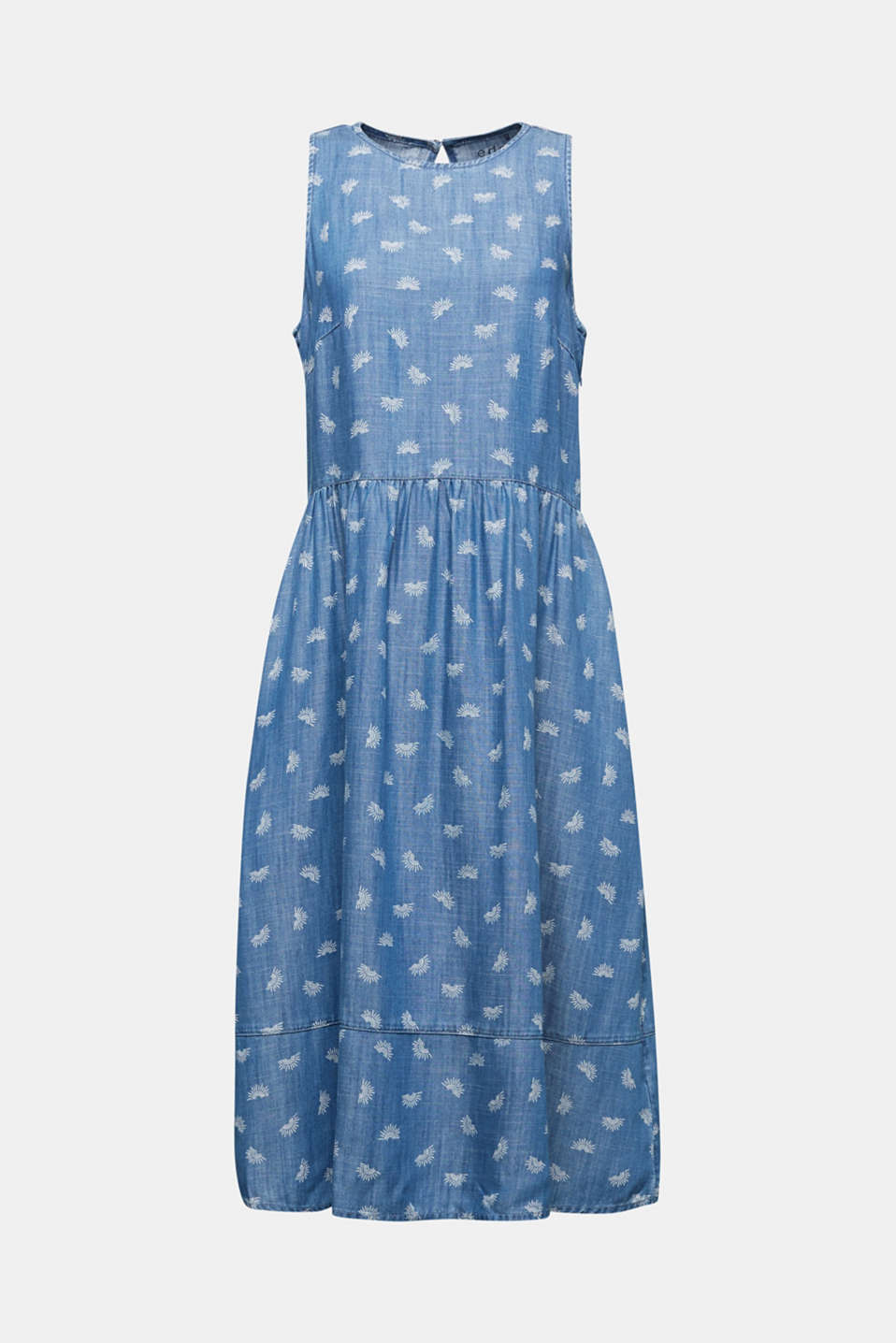 Denim dress made of lyocell, BLUE LIGHT WASH, detail image number 5