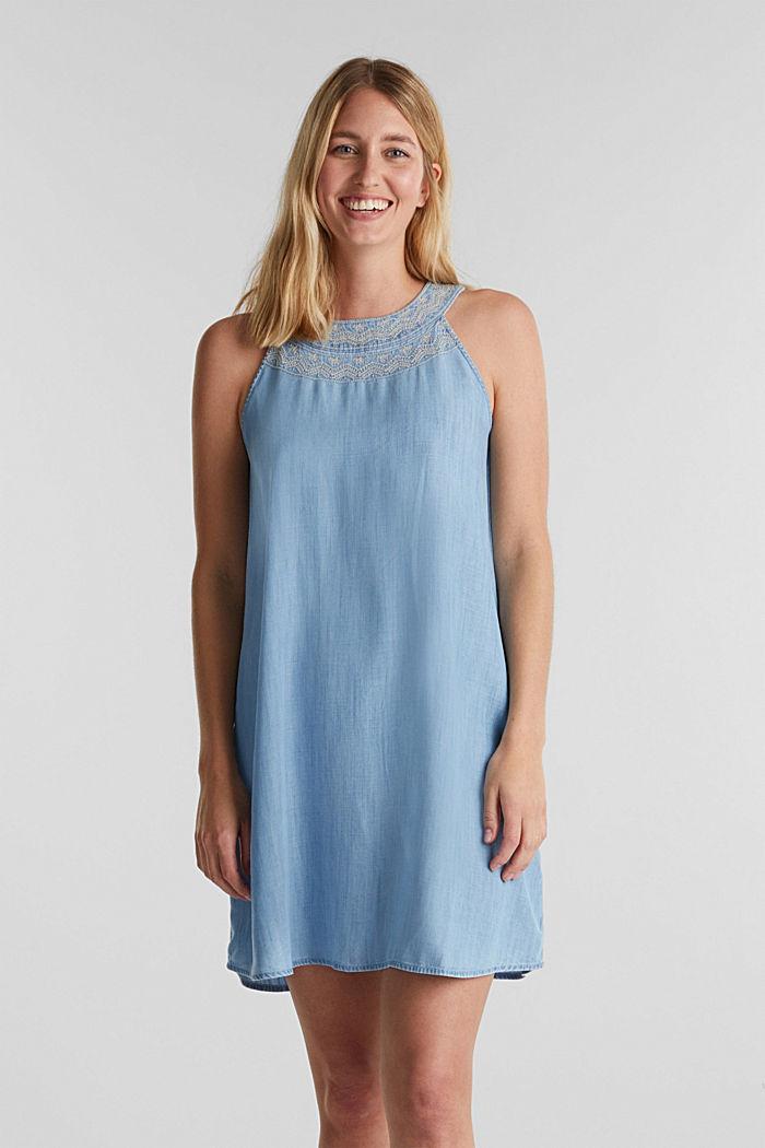 Denim-Kleid aus 100% Lyocell, BLUE LIGHT WASHED, detail image number 0