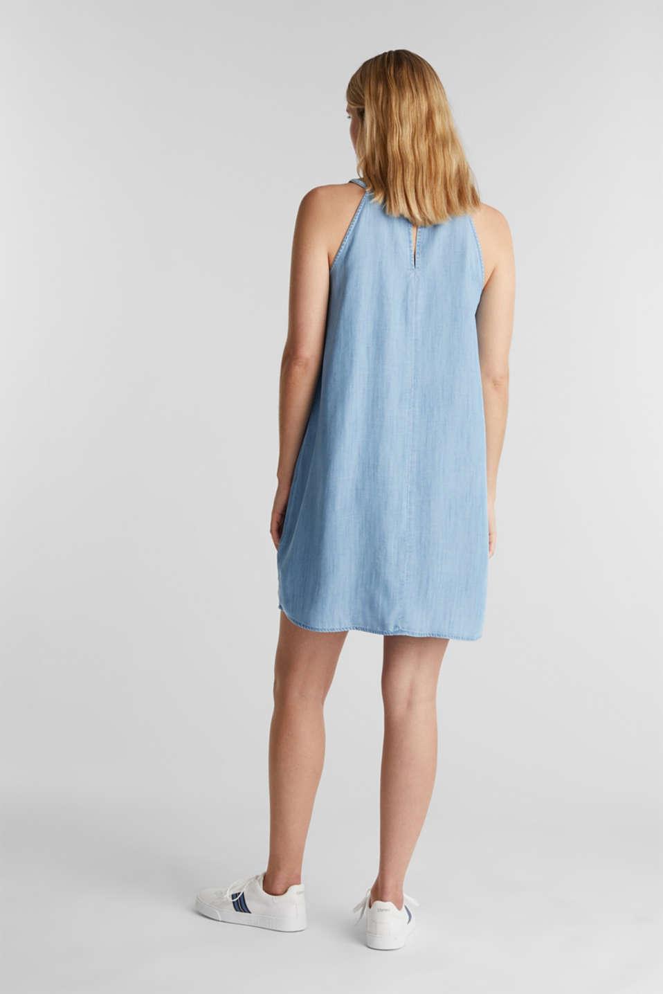 Denim dress made 100% lyocell, BLUE LIGHT WASH, detail image number 2