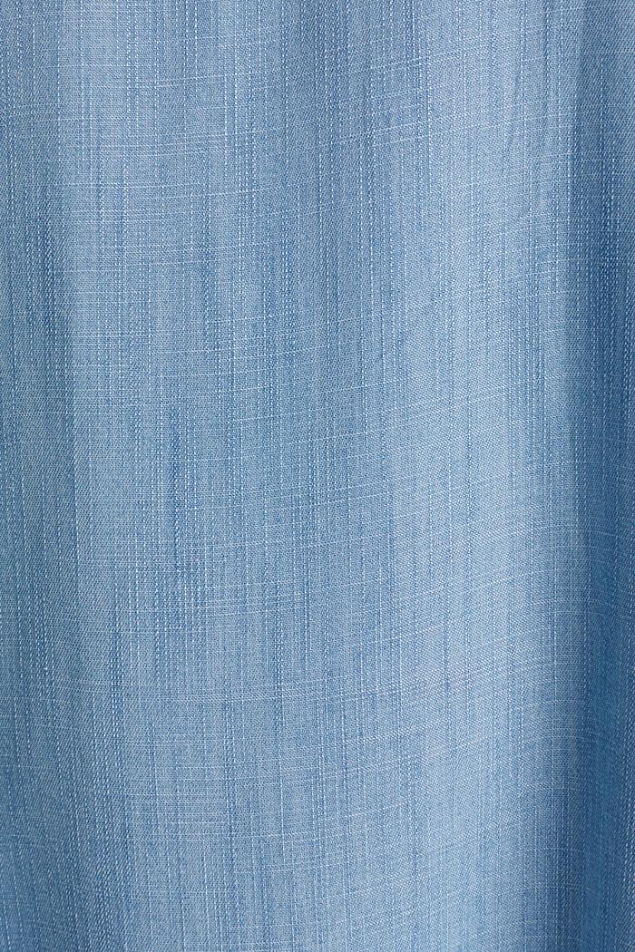 Denim-Kleid aus 100% Lyocell, BLUE LIGHT WASHED, detail image number 4