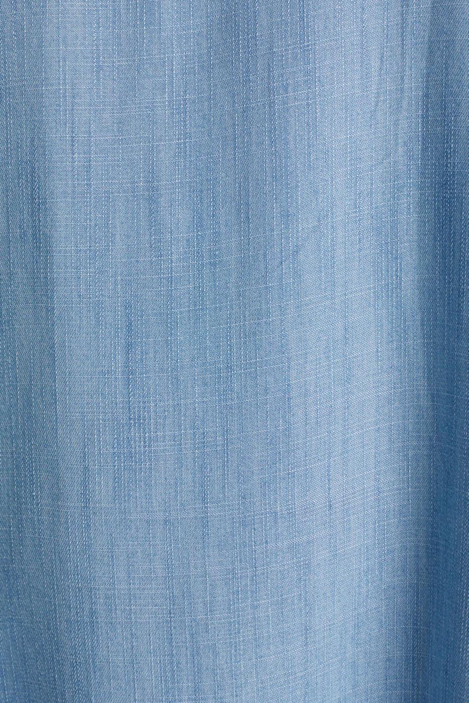 Denim dress made 100% lyocell, BLUE LIGHT WASH, detail image number 4