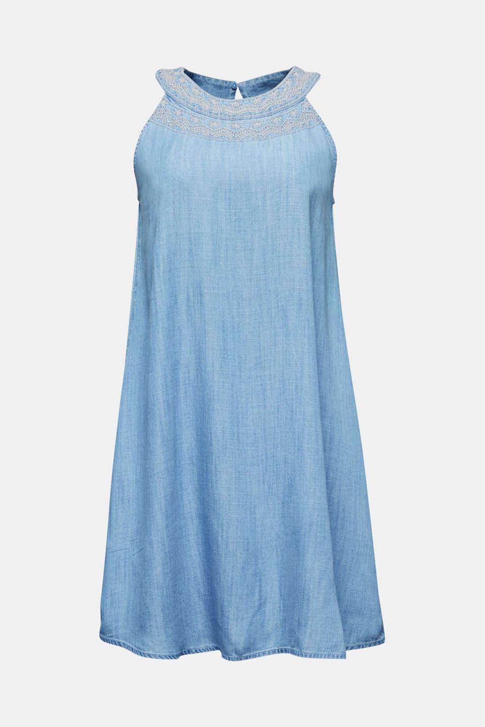 Denim dress made 100% lyocell, BLUE LIGHT WASH, detail image number 6