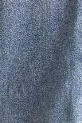 Denim blouse with a lapel collar, BLUE LIGHT WASH, detail