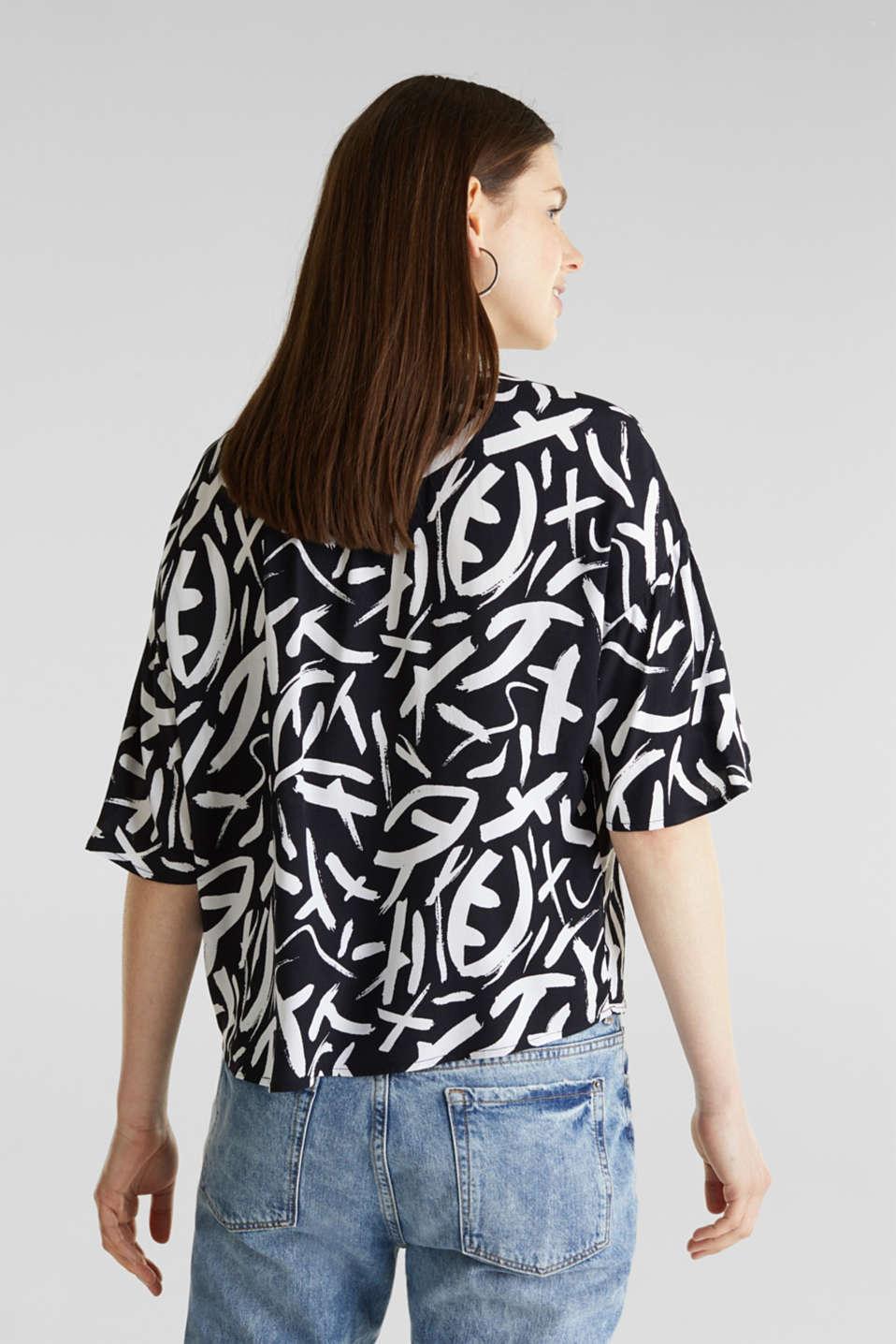 Crêpe blouse made of LENZING™ ECOVERO™, BLACK 3, detail image number 2