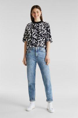 Crêpe blouse made of LENZING™ ECOVERO™, BLACK 3, detail