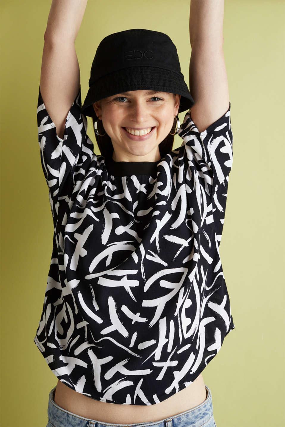 Crêpe blouse made of LENZING™ ECOVERO™, BLACK 3, detail image number 4