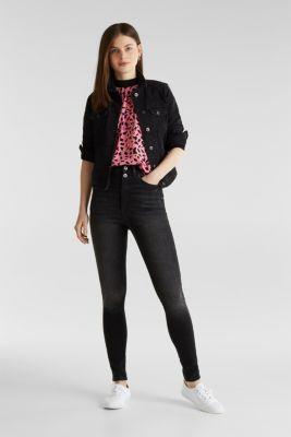 Crêpe blouse made of LENZING™ ECOVERO™, PINK 4, detail