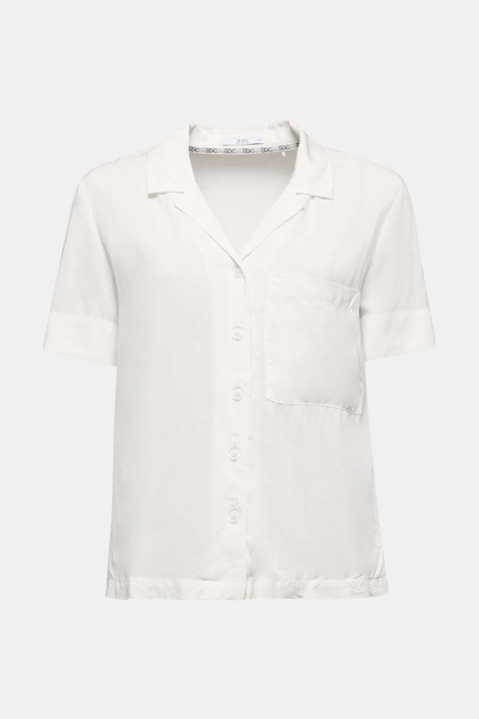 Blouse made of LENZING™ ECOVERO™, OFF WHITE, detail image number 6