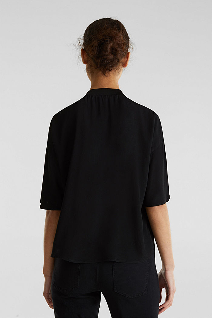 Blouse, LENZING™ ECOVERO™, BLACK, detail image number 2