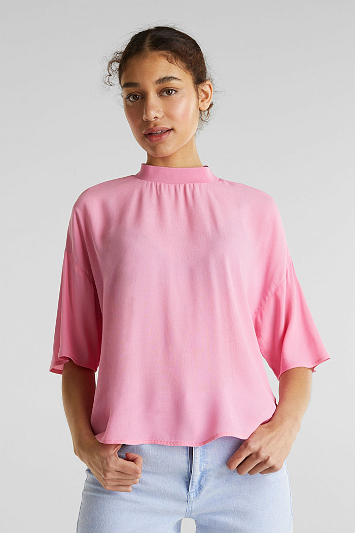 Blouse, LENZING™ ECOVERO™, PINK, detail image number 0