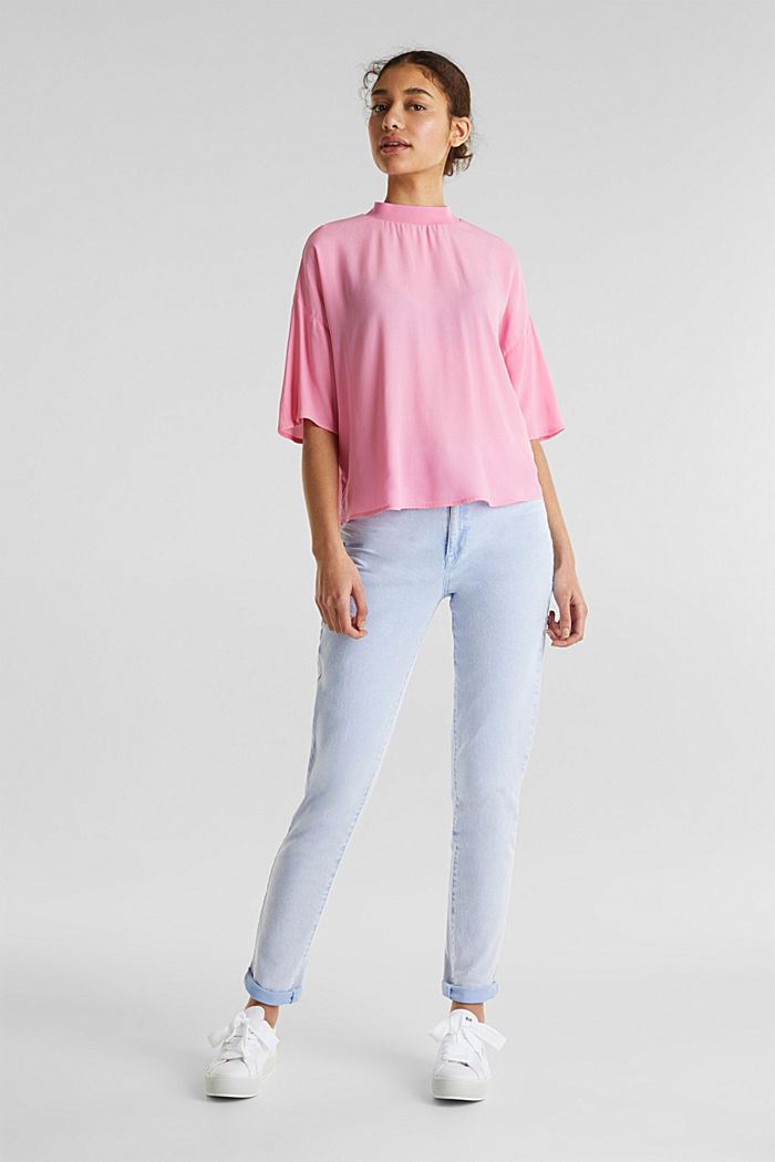 Blouse, LENZING™ ECOVERO™, PINK, detail image number 1