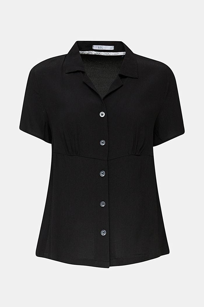 Blouse, LENZING™ ECOVERO™, BLACK, detail image number 5