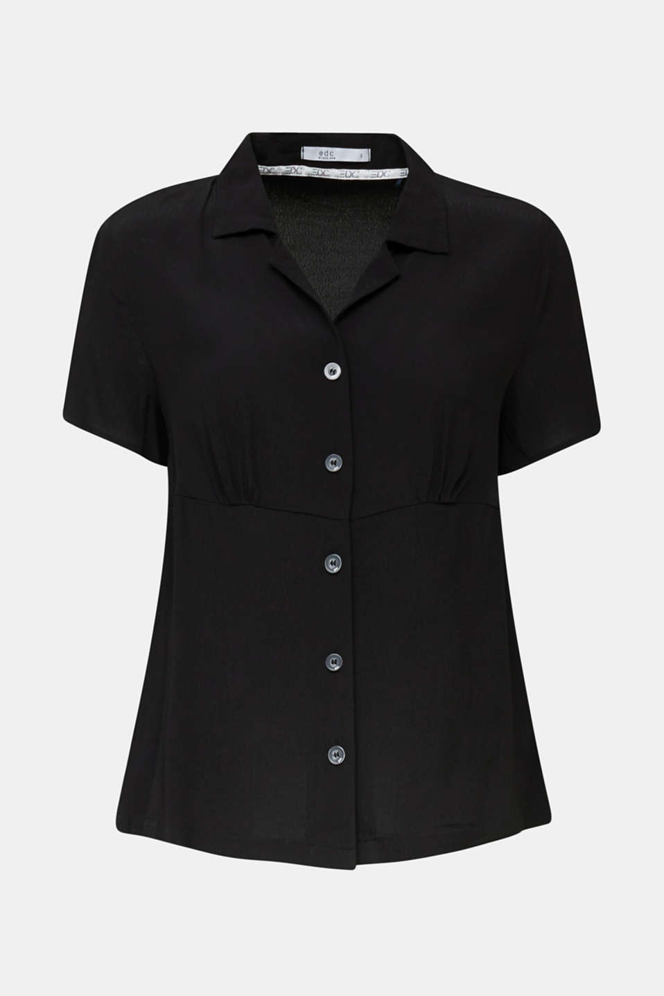 Blouse, LENZING™ ECOVERO™, BLACK, detail image number 5