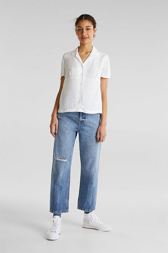 Bluse, LENZING™ ECOVERO™, WHITE, detail image number 1