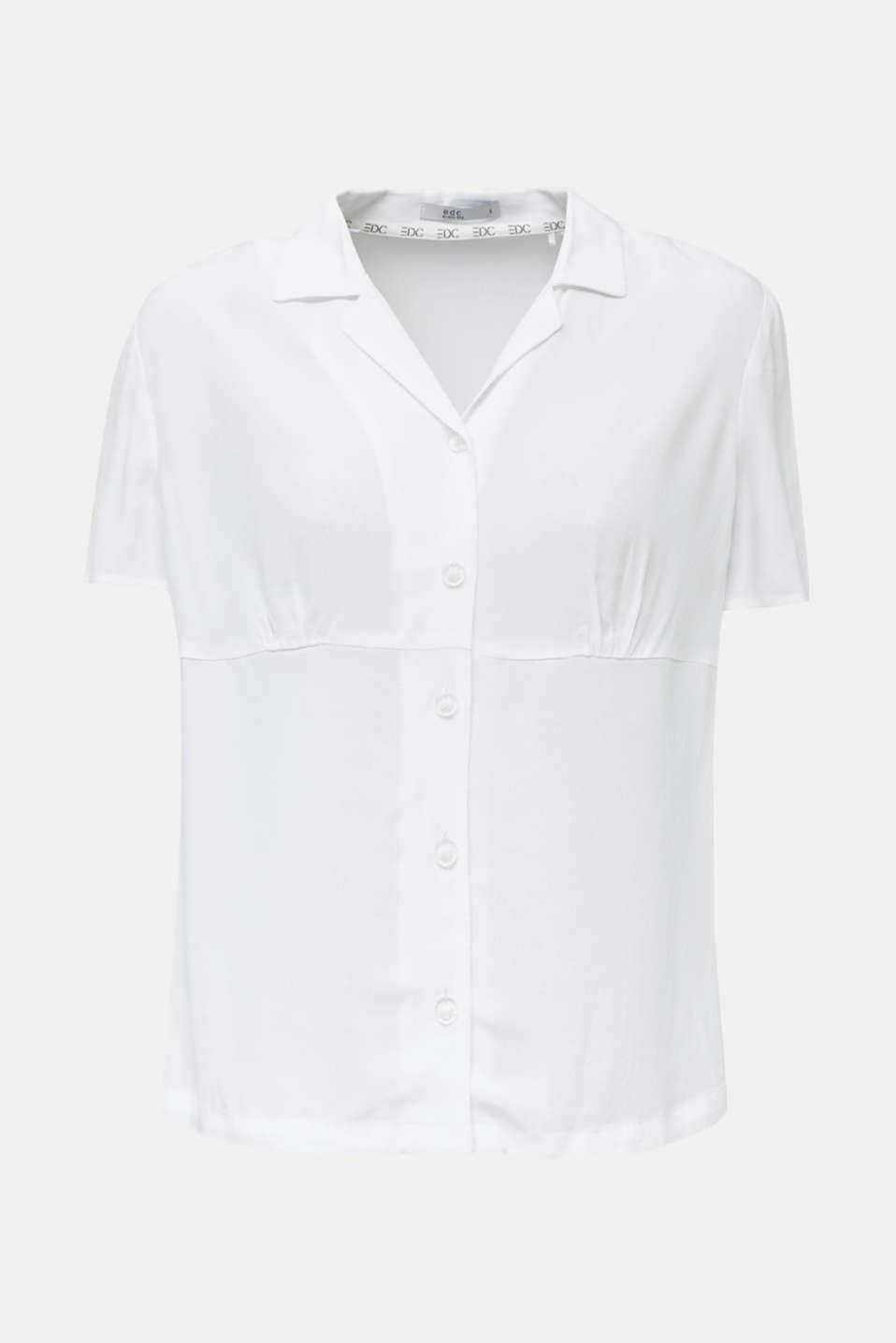 Blouse, LENZING™ ECOVERO™, WHITE, detail image number 6