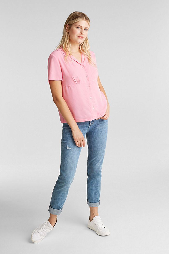 Bluse, LENZING™ ECOVERO™, PINK, detail image number 1
