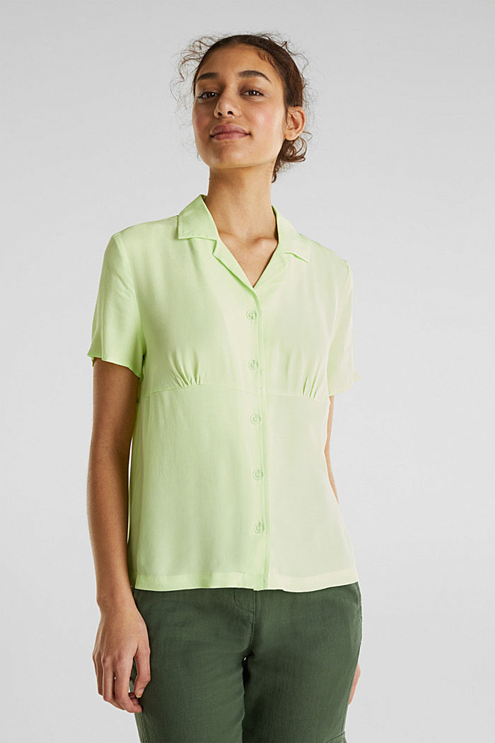 Blouse, LENZING™ ECOVERO™, LIME YELLOW, detail image number 0