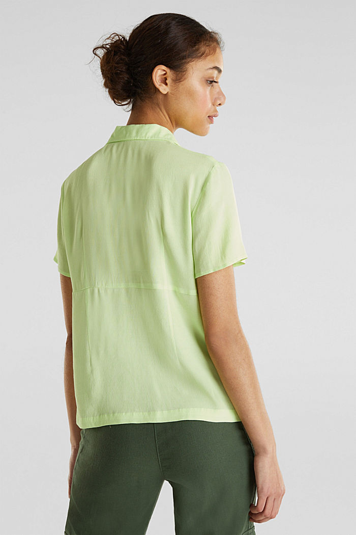 Blouse, LENZING™ ECOVERO™, LIME YELLOW, detail image number 3