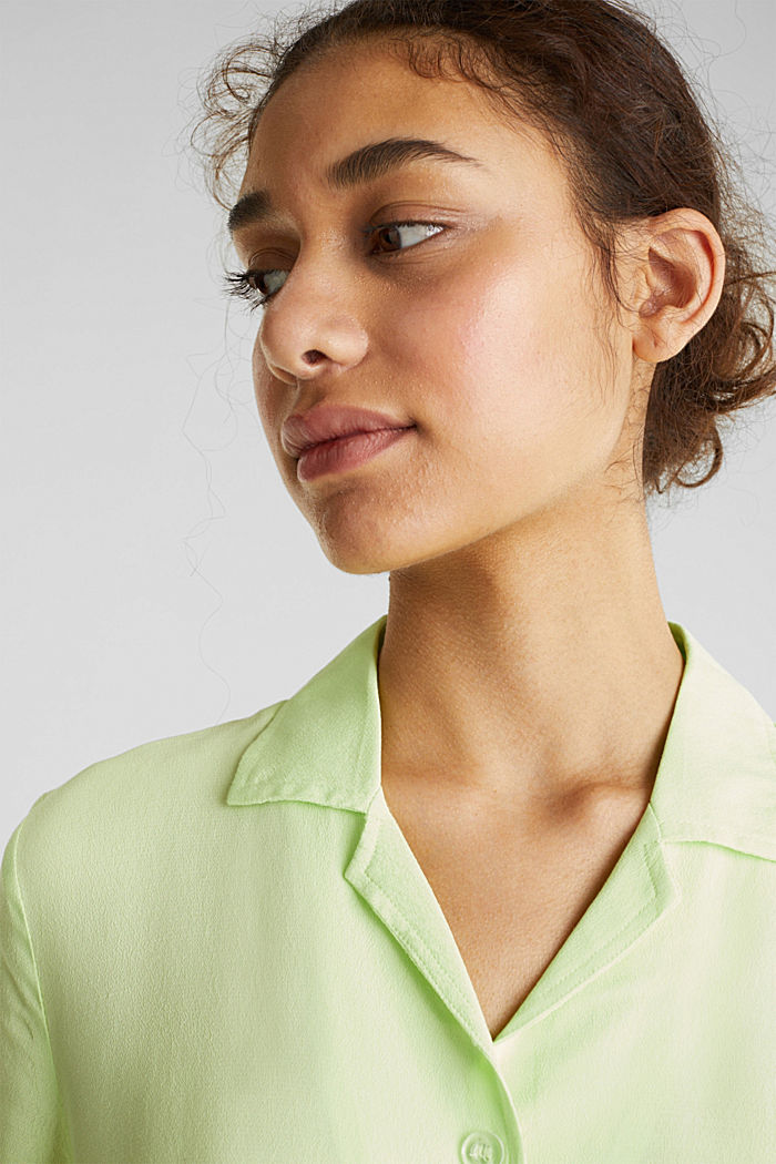 Blouse, LENZING™ ECOVERO™, LIME YELLOW, detail image number 6