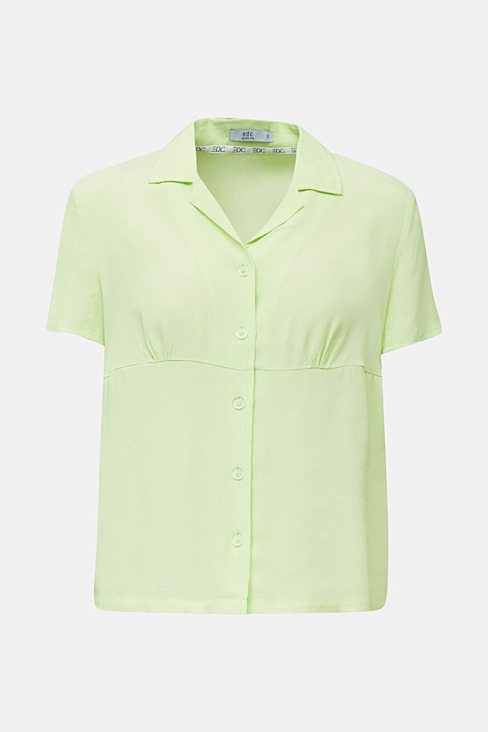 Blouse, LENZING™ ECOVERO™, LIME YELLOW, detail image number 7