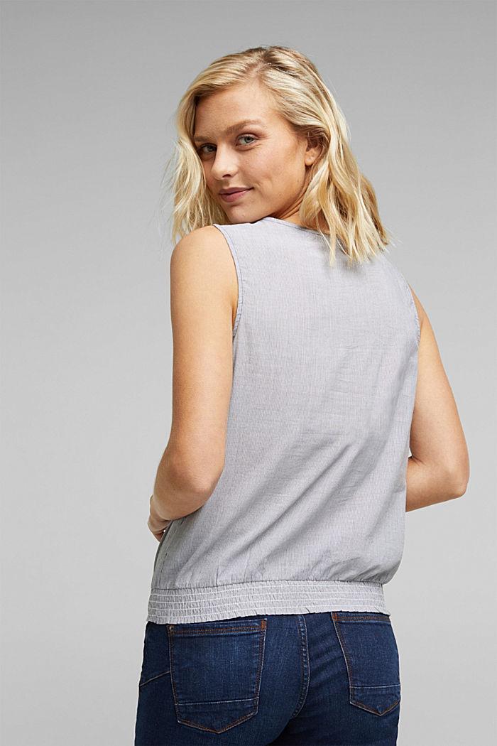 Blouse top, organic cotton, BLACK, detail image number 3
