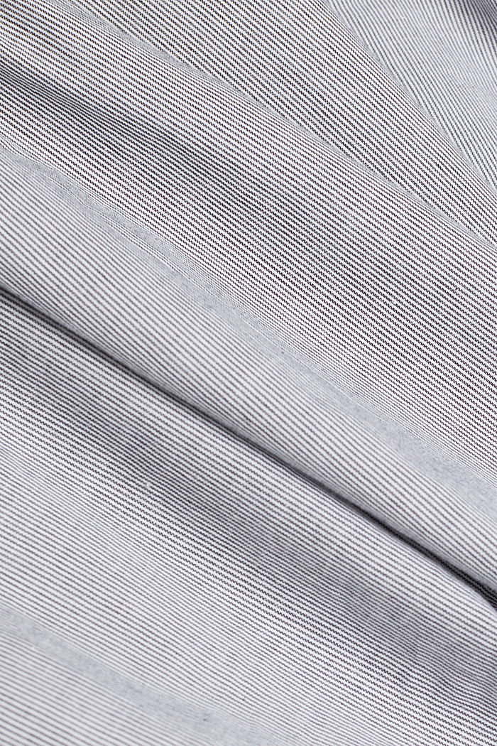 Blouse top, organic cotton, BLACK, detail image number 4