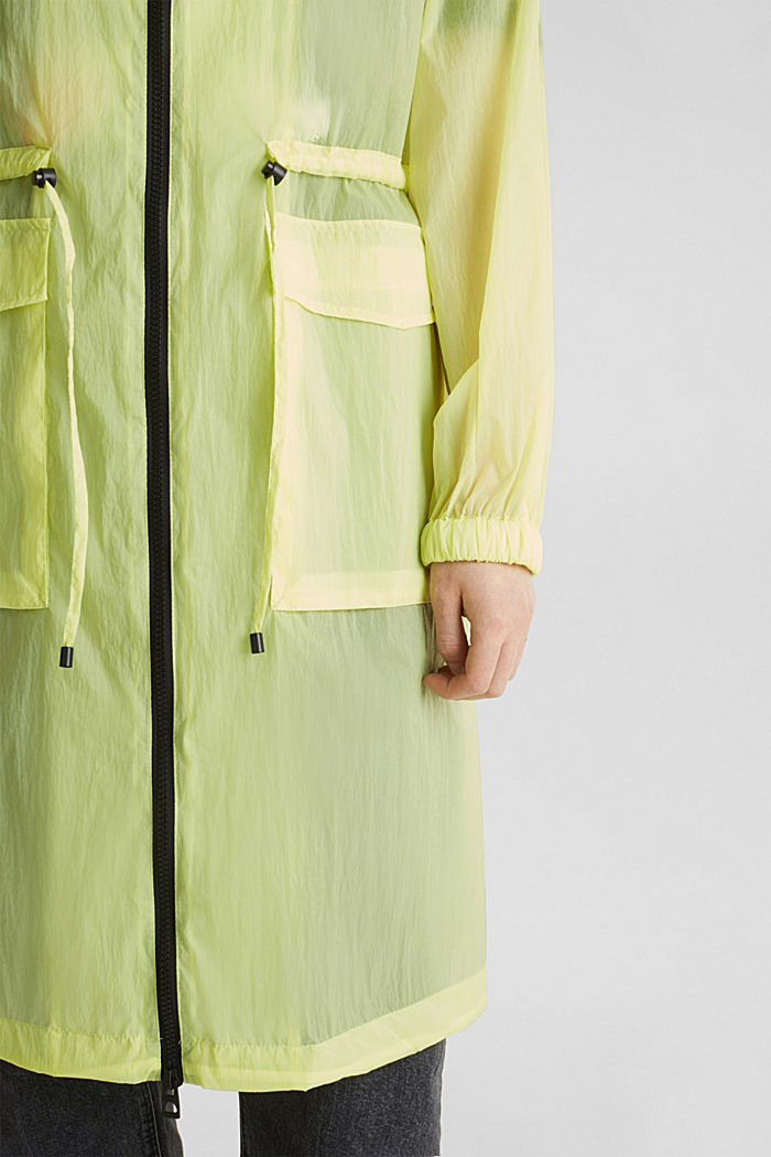 NEON Extra-leichter Long-Parka, LIME YELLOW, detail image number 2