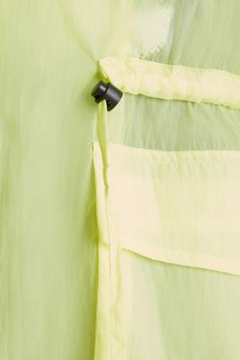 NEON ultra light long parka, LIME YELLOW, detail
