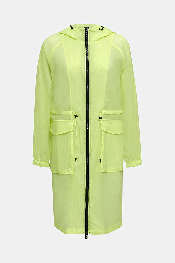 NEON Extra-leichter Long-Parka, LIME YELLOW, detail image number 6