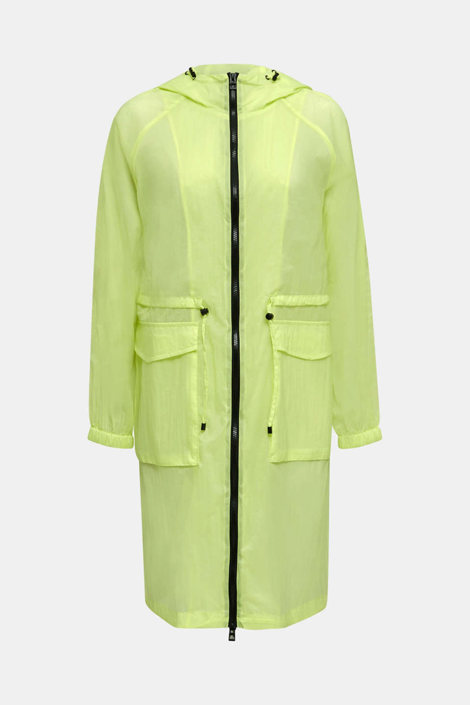 NEON ultra light long parka, LIME YELLOW, detail image number 6