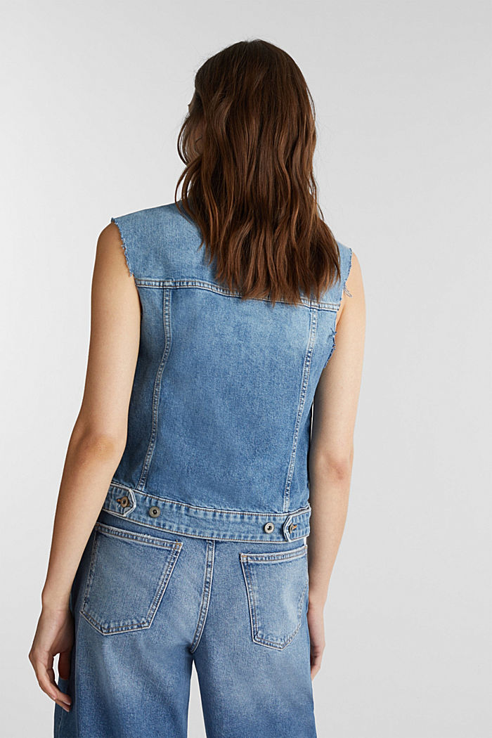 Denim-Weste aus Organic Cotton, BLUE MEDIUM WASHED, detail image number 3