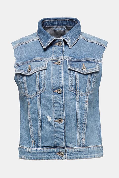 Organic cotton denim waistcoat