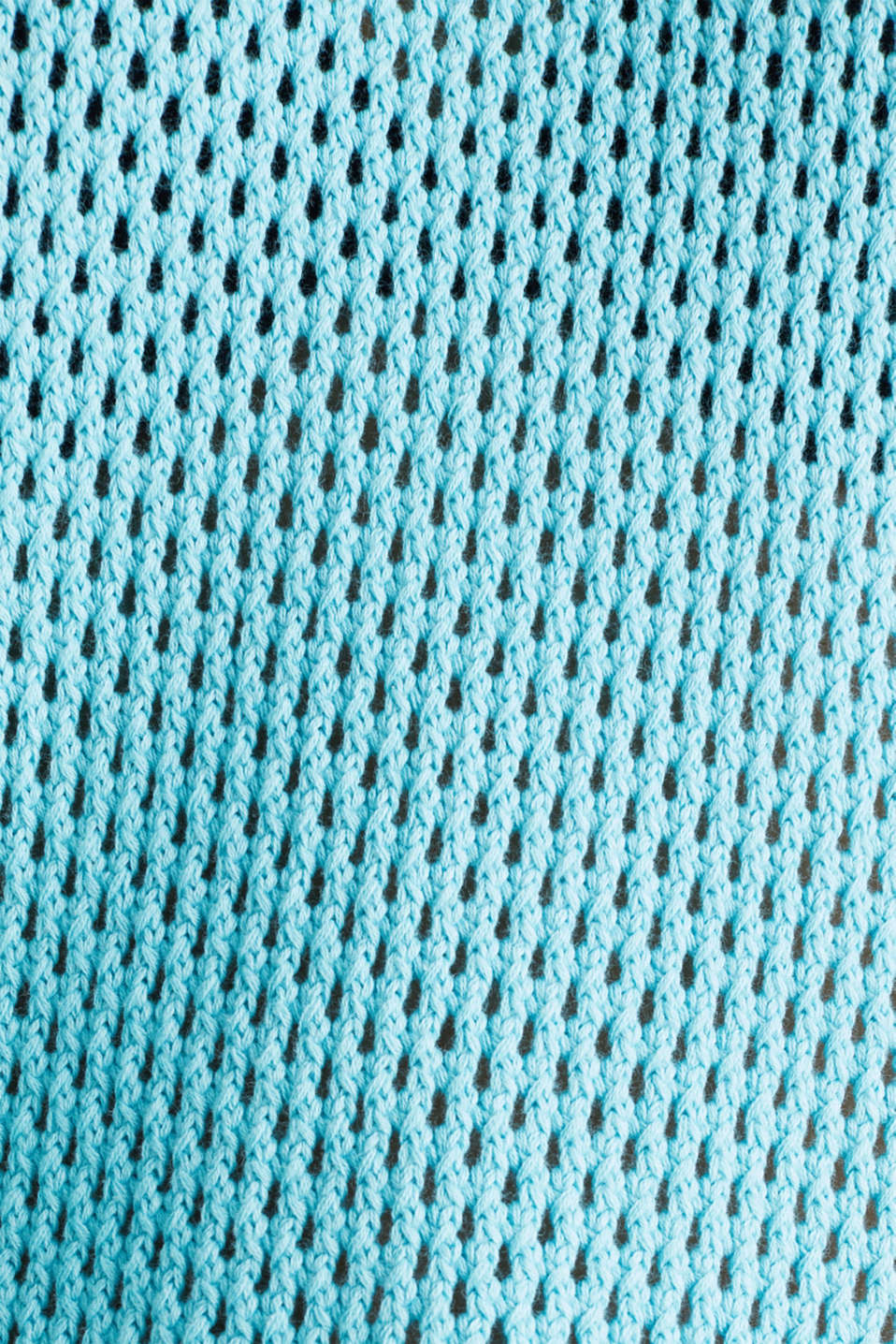 Cape jumper with an open-work pattern, TURQUOISE, detail image number 4