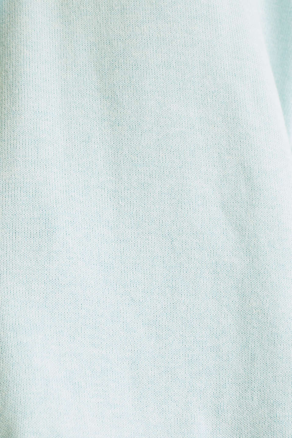 Knitted hoodie in 100% cotton, TURQUOISE, detail image number 4