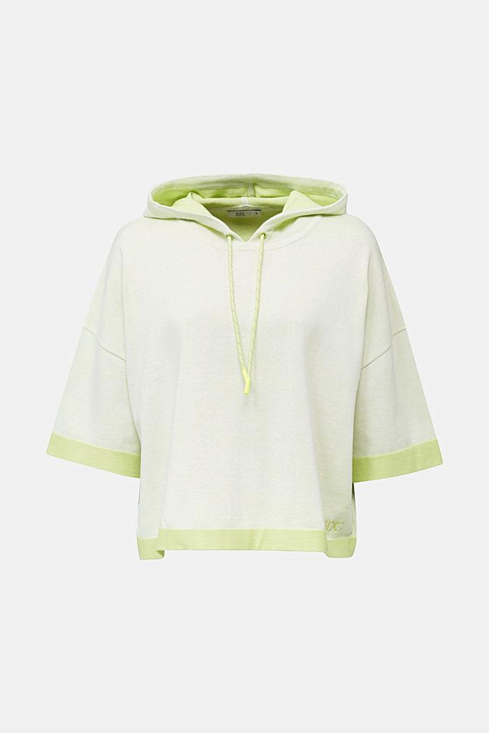 Gebreide hoodie, van katoen
