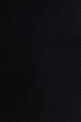 Stand-up collar jumper, BLACK, detail