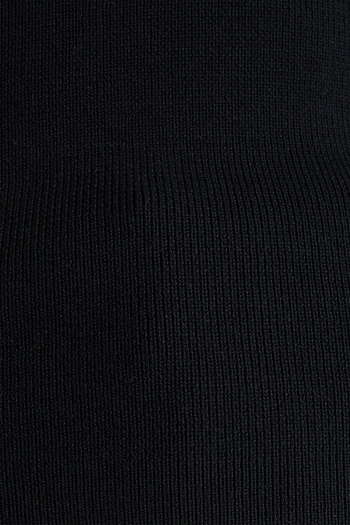 Stehkragen-Pullover, BLACK, detail image number 3