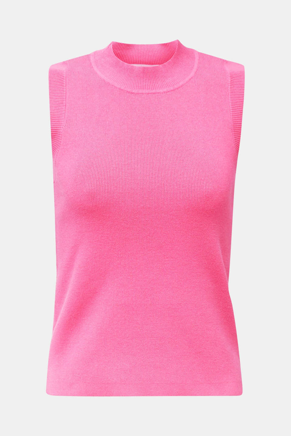 Stand-up collar jumper, PINK FUCHSIA, detail image number 6