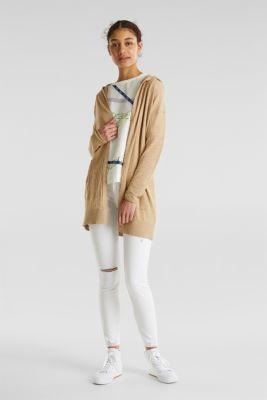 Cardigan, 100% cotton, LIGHT BEIGE 5, detail