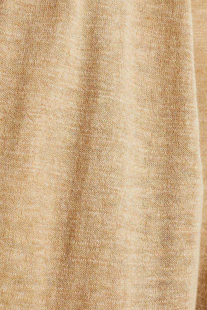 Cardigan, 100% cotton, LIGHT BEIGE, detail image number 4