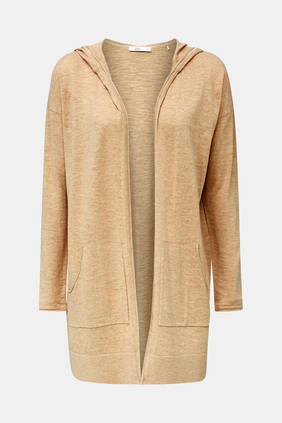 Cardigan, 100% cotton, LIGHT BEIGE 5, detail image number 6