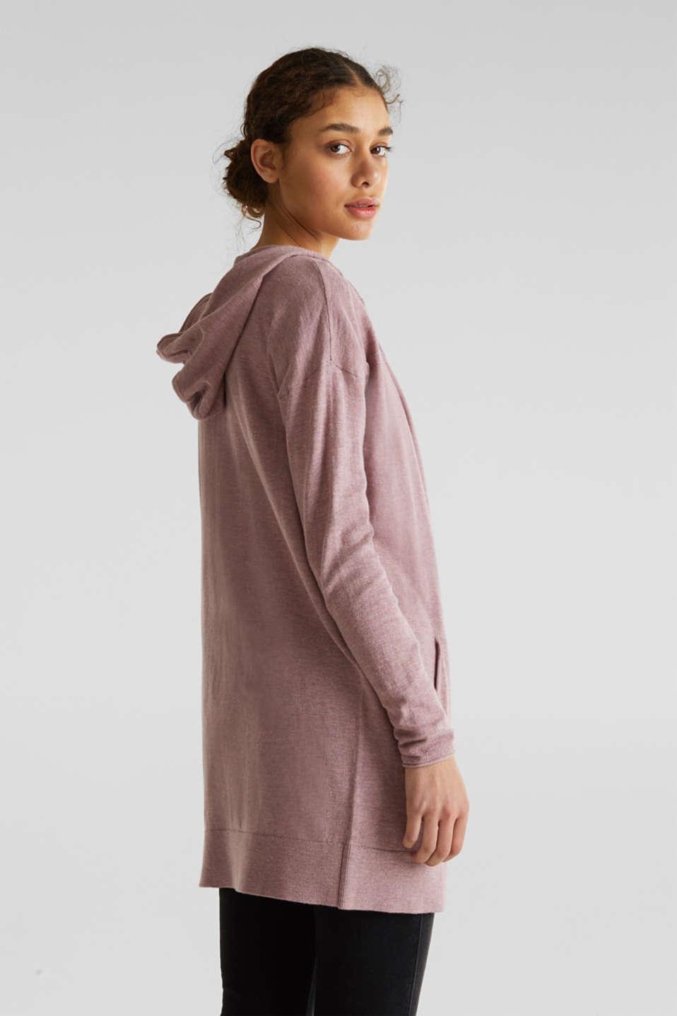 Cardigan, 100% cotton, MAUVE 5, detail image number 3